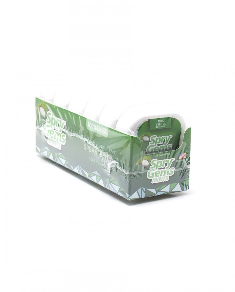 Spry Natural Xylitol Spearmint Gems - Containers Pack