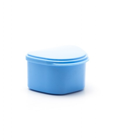 Denture Case/Bath - Blue