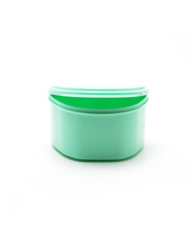 Denture Case/Bath - Green
