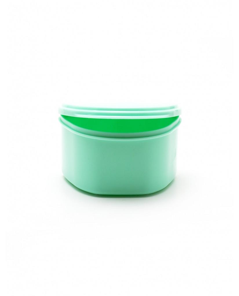 Denture Case/Bath - Green