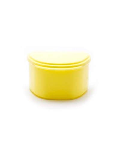 Denture Case/Bath - Yellow