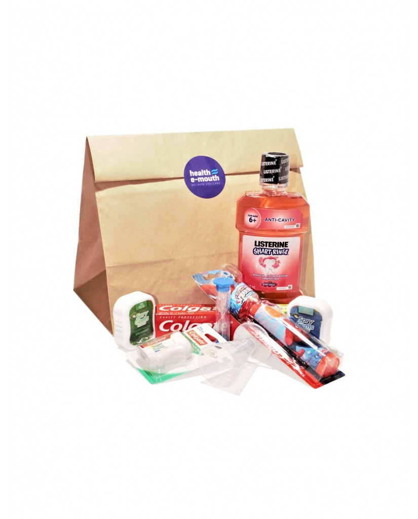 Health E-Mouth - 6+ Years - Power Toothbrush + Fluoride Toothpaste & Mouthwash Pack