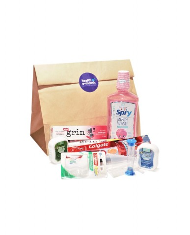 Health E-Mouth - 6+ Years - Power Toothbrush + Fluoride-Free Toothpaste & Mouthwash Pack