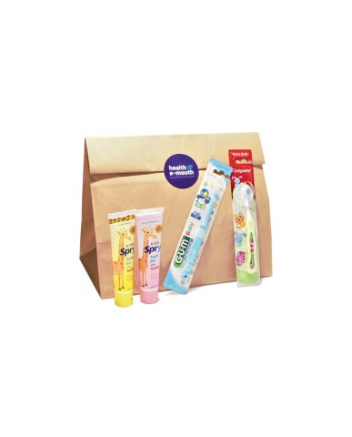 Health E-Mouth - Baby 3 Months to 2 Years Toothbrushes + Natural, Fluoride-Free Toothpastes Pack