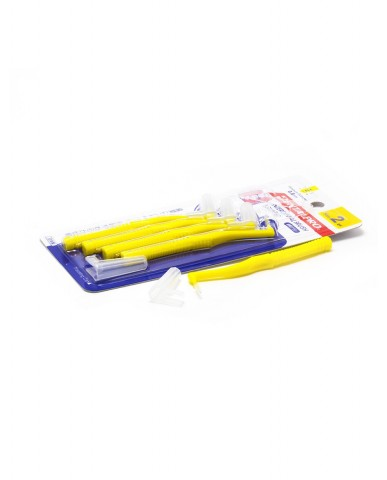 DentalPro L Shape Interdental Brush Size 2 (SS) – 0.8 mm Yellow