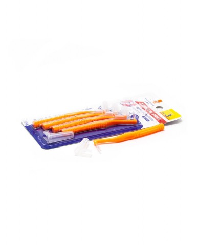 DentalPro L Shape Interdental Brush Size 3 (S) – 1.2 mm Orange