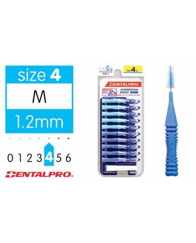 DentalPro i Shape Interdental Brush Size 4 (M) – 1.2mm Blue