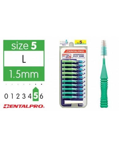 DentalPro i Shape Interdental Brush Size 5 (L) – 1.5 mm Green
