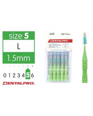 DentalPro i Shape Interdental Brush Size 5 (L) – 1.5mm Green