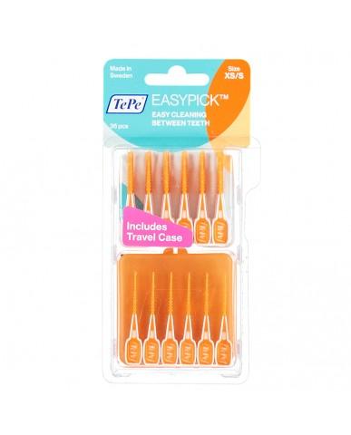 TePe EasyPick Orange XS/Small 36 Pack + Travel Case