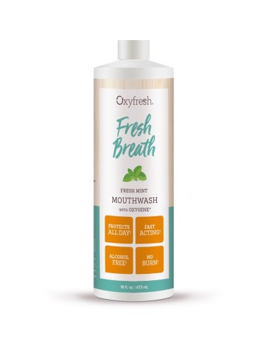 Oxyfresh Fresh Breath Fresh Mint Mouthwash 473mL