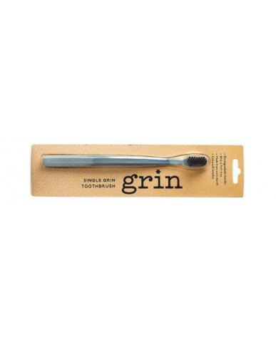 Grin Charcoal-Infused Biodegradable Toothbrush - Navy Blue