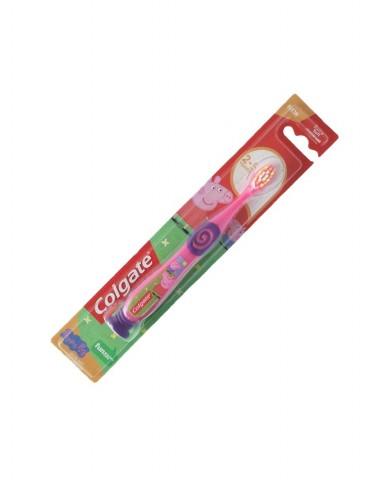 COLGATE Toothbrush 2-5 years - Peppa Pig - Pink-Purple