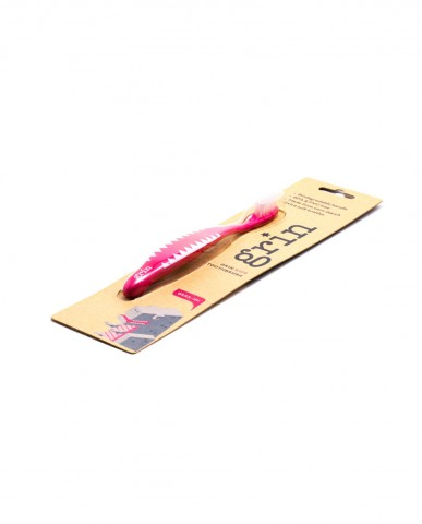 GRRR-IN! Kids Biodegradable Brush - Pink