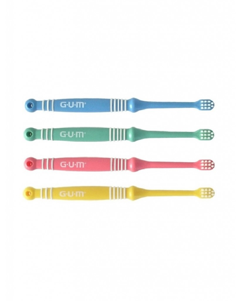 GUM Baby Toothbrush 0-2 years - Set of 4 ●●●Opened●●●