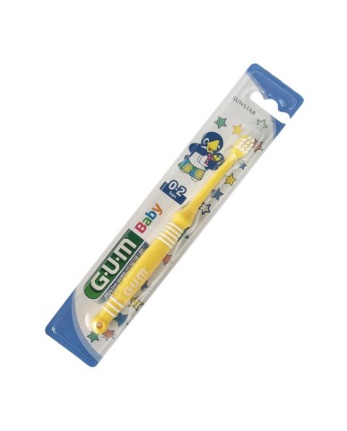 GUM Baby Toothbrush 0-2 years - Yellow