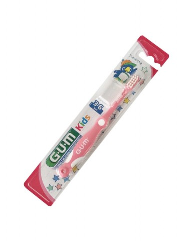 GUM Kids Toothbrush 3-6 years - Pink