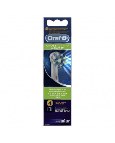 Oral-B Power Toothbrush Heads - CrossAction 4 Pack
