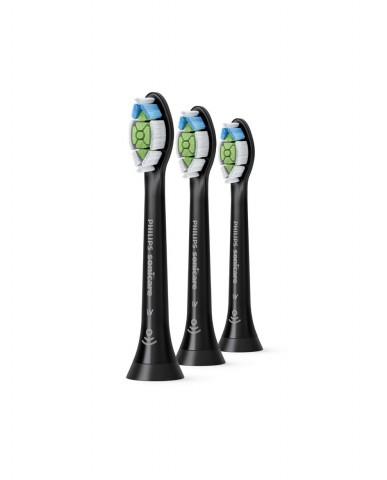 Philips Sonicare W2 Optimal White Standard Brush Heads - Black 3 Pack
