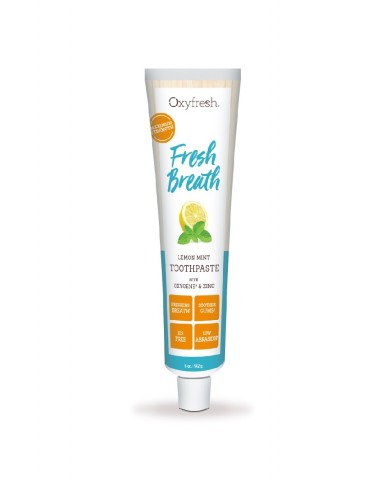 Oxyfresh Maximum Fresh Breath Lemon Mint Toothpaste – Fluoride Free (142g)
