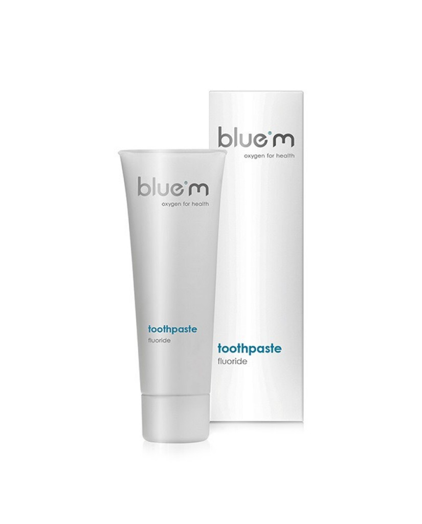 blue m toothpaste with calcium fluoride 75mL